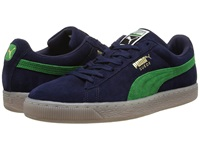 Puma Suede Classic Coastal Peacoat Fern Green Athletic Shoes Navy