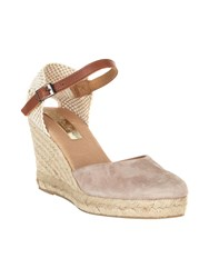 Phase Eight Tamzin Suede Espadrilles Neutral