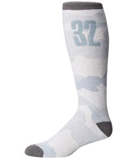 Thirtytwo Trenches Sock White Camo Men's Crew Cut Socks Shoes