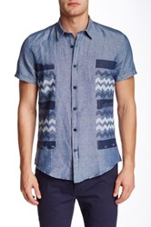 Antony Morato Chevron Slim Fit Shirt Blue