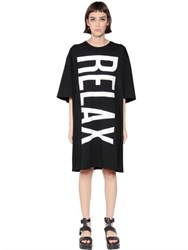 Omelya Relax Printed Cotton Jersey Dress