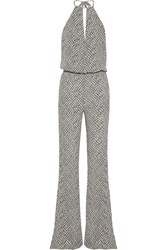 Finds Stone Cold Fox Louisiana Printed Crepe Jumpsuit Black