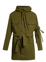 Craig Green Tie Waist Hooded Anorak Jacket Green