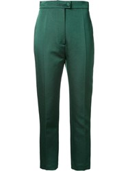 Martin Grant Tailored Cropped Trousers Green