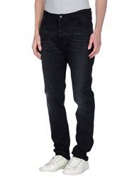 Officina 36 Denim Denim Trousers Men Black