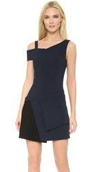 Thierry Mugler Sleeveless Dress Dark Navy Black