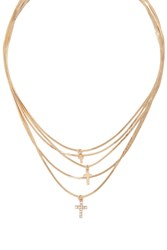 Forever 21 Cross Chain Layered Necklace