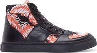 Marc Jacobs Orange And Black Palm Beach High Top Sneakers