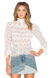 Marc By Marc Jacobs Cherry Pindot Voile Blouse Ivory