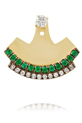 18 Karat Gold Diamond And Emerald Earring Jemma Wynne
