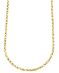 Macy's 14K Gold Necklace 24' 3Mm Square Link Polished Chain