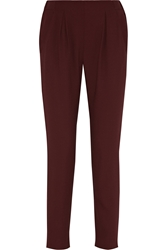Fendi High Rise Crepe Tapered Pants