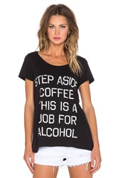 Rebel Yell Step Aside Coffee Tee Black
