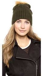 Plush Fleece Lined Hat With Pom Pom