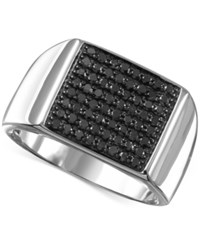 Macy's Men's Black Diamond 3 4 Ct. T.W. Ring In Sterling Silver