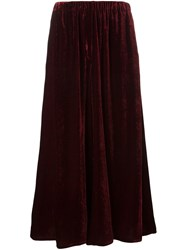 Etro Wide Leg Cropped Pants Red