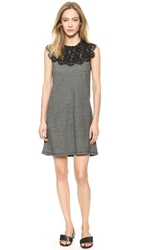 Sea Lace Combo Dress Grey Black