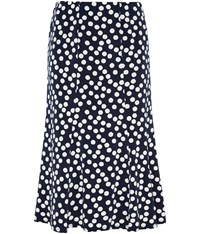 Cc Irregular Spot Jersey Skirt Navy