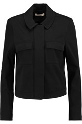 J Brand Palisades Cropped Cotton Blend Twill Jacket Black