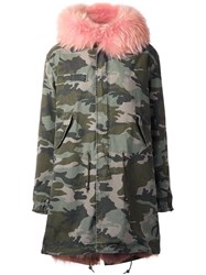 Mr And Mrs Italy Camouflage Parka Coat Green