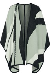 Raoul Metallic Intarsia Cape Green