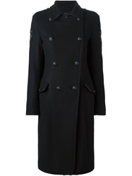 Amen Oversized Double Breasted Coat Black