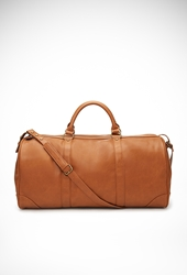Forever 21 Faux Leather Weekender Bag Tan