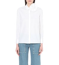 Victoria Beckham Bow Detail Cotton Shirt White