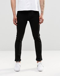 Only And Sons Black Slim Fit Jeans With Stretch Black