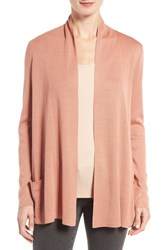 Eileen Fisher Women's Tencel And Organic Cotton Blend Cardigan Toffee Cream