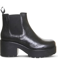 Vagabond Dioon Chunky Leather Chelsea Boots Black Leather