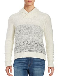 Calvin Klein Textured Ombre Shawl Collar Sweater Sunflower Combo