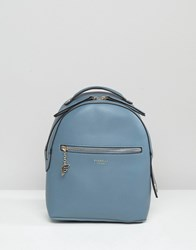 Fiorelli Anouk Simple Backpack With Zip Pocket Detail Blue