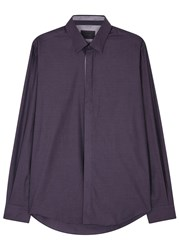 Pal Zileri Dark Purple Cotton Shirt