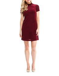 Maggy London Burnout Short Sleeve Swing Dress Wine
