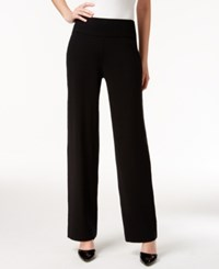 Alfani Pull On Wide Leg Knit Trousers Only At Macy's Deep Black
