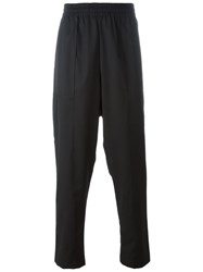 Tony Cohen Elastic Waistband Loose Fit Trousers Black
