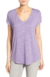 Women's Gibson V Neck Short Sleeve Tee Purple