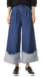 Edit Turn Up Culottes Dark Wash