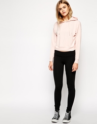 Asos Soft Touch Leggings With Fold Over Waistband Black