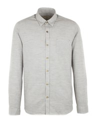 Gibson Men's Taupe Mini Check Long Sleeved Shirt Taupe