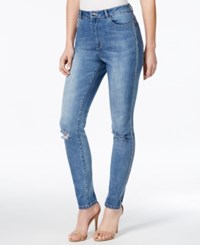 Nanette By Nanette Lepore Studded Ripped Jane Wash Skinny Jeans
