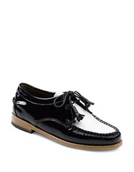 G.H. Bass Winnie Patent Leather Oxfords Black White