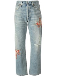 Citizens Of Humanity Embroidered Cropped Jeans Blue