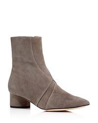 Sigerson Morrison Zero Pointed Toe Mid Heel Booties Gray