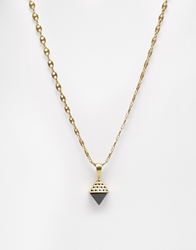 Love Bullets Lovebullets Tetra Crystal Necklace Gold