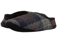 Bedroom Athletics Henry Navy Black Check Men's Slippers Gray