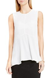 Vince Camuto Petite Women's Sleeveless Ruffle Front Top New Ivory
