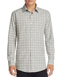 Bloomingdale's The Men's Store At Plaid Classic Fit Button Down Shirt Heather Grey