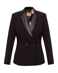 Ted Baker Leotaa Double Breasted Tux Blazer Black